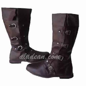 Riding Style Boots Reenactment Leather Boots
