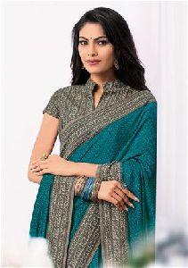 5453 Laxmipati Blue Satin Silk Jalebi Saree