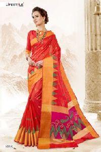 55191 Garba Silk Saree