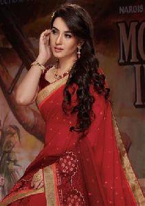 5488 Laxmipati Red Chiffon Bollywood Cafe Saree