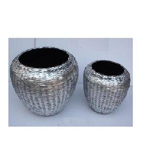 Aluminium Weaving Iron vase