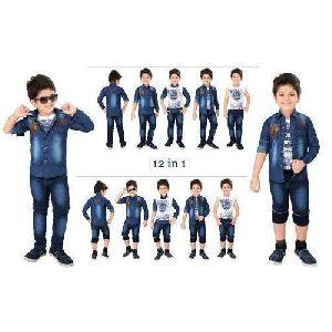 Kids Designer Denim Jacket Suit