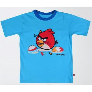 Kids Round Neck Blue T-shirt