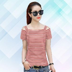 Cap Half Sleeve New Stylish Fashion T-shirt For Women Fully Stiched