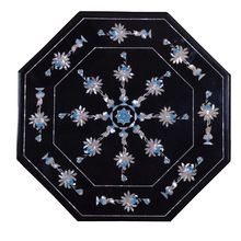 Marble Coffee Table Top Semi Gemstone Arts
