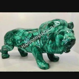 Marble Malachite Lion Leo Hand Carved Home Decorative