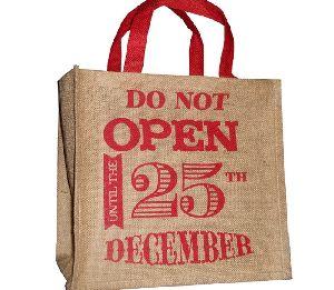 Jute Christmas Gift Bag