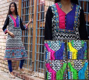 Jaipuri Embroidered Cotton Kurtis