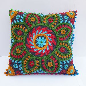 Vintage Cotton Cushion Cover Indian Handmade