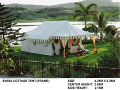 SWISS COTTAGE FRAME TENT 14' X 28'