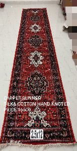 Silk & Cotton Hand Knotted Carpet