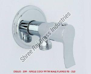 Delux-204 Angle Cock With Wall Flange