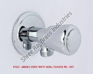 Figo- Angle Cock with Wall Flange