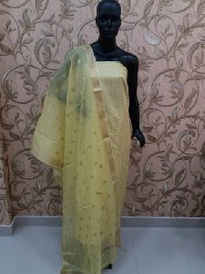Banarasi Silk Unstitched Suit