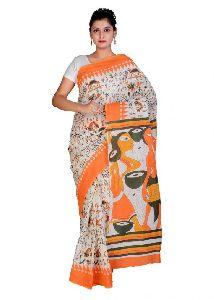 Batik Printed Cotton Sarees