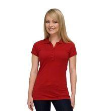 Ladies Short Sleeve Soft Thin Plain Polo T Shirts