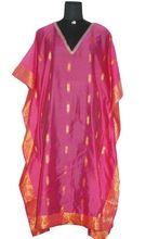 Vintage Silk Long Printed Ladies Kaftan