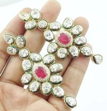Kundan Polki Designer Gold Plated Earrings