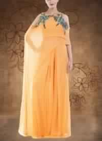 Alphonso Cold Shoulder Cape And Palazzo Set