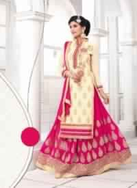 Viva N Diva Cream Colored Georgette Suit