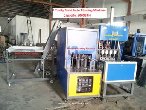 4 Cavity Semi Auto Pet Blowing Machine