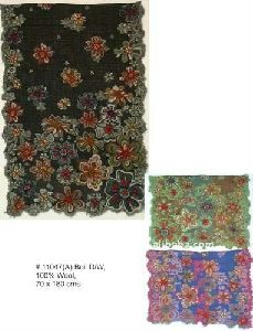 Indian Wool Shawls With Embroidery