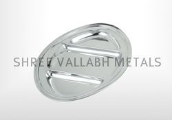 3 Compartment Oval Tray