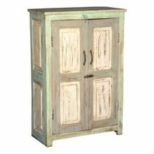 Rustic Vintage Style Living Room Furniture Two Doors Wardrobe Style Sideboard
