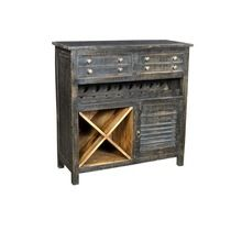 Vintage Style Wooden Bar Furniture Two Drawers One Door Wine Cabinet