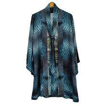 Short Style Printed Silk Kimonos Jacket