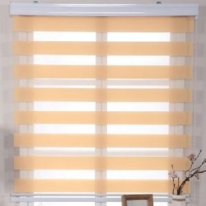 Aluminum Tube Polyester Printed Fabric Rainbow Colored Blinds