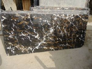 Granite Black & Gold Slab