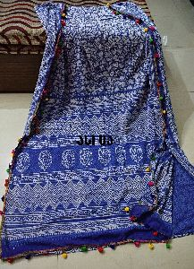 Cotton Block Designer Saree