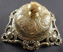 Antique Brass Ornate Hotel Front Desk Bell