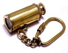 Brass Telescope Key Chain