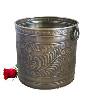 Brass Embossed Garden Planter
