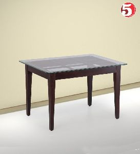 Compact Glass Topped Dining Table