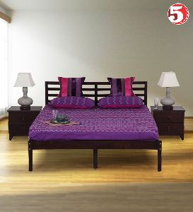 Elegant Double Bed And Trunk Storage End Table