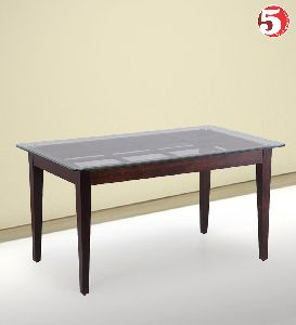 Large Glass Topped Dining Table