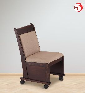Single Wooden Chair With Wheels
