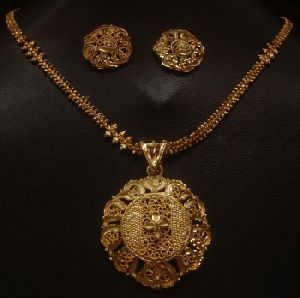 Indian wedding antique gold plated pendant