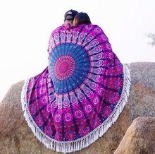 Roundie Towel Tapestry Round Beach Throw Yoga Mat