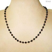Black Spinel Beaded Necklace Gemstone Jewelry