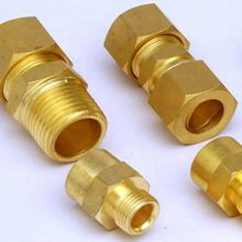 Straight Brass Compression Fitting