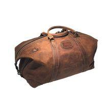 Leather Duffer Luggage Bag