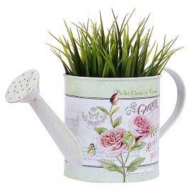 Wonderland Water Can Flower Pot In White
