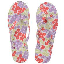 Red Flower Printed Cotton Slipper For Ladies And Girls