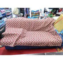 Vintage silk sari quilted sofa blanket