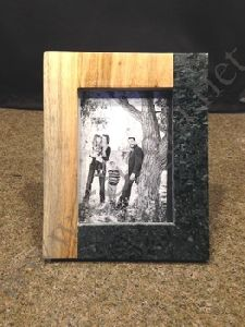 Marble And Wood Photo Frame