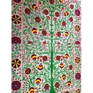 Embroidery Bedcover Tree Of Life Tapestry Blanket Ethnic Bed Cover